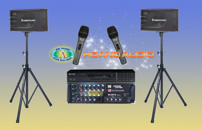 Bộ Dàn Karaoke số 4 cho gia đình giá rẻ Loa Komisound