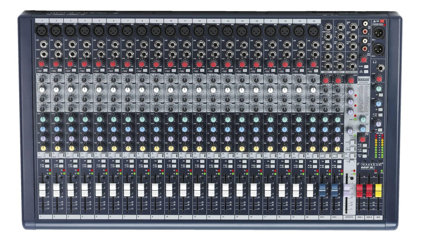 Bàn mixer soundcarf mfx I20 chính hãng