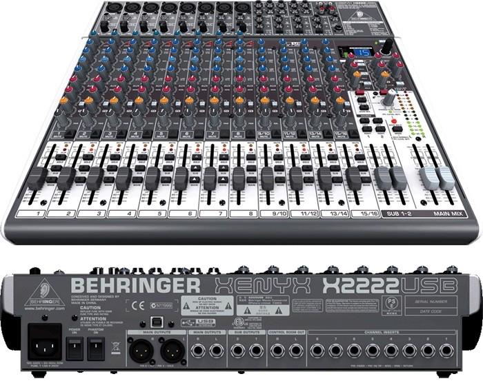 Bàn mixer behringer x-2222 usb cao cấp