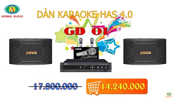 Post image for Dàn karaoke HAS 4.0 [P1- 03 Mẫu Dàn karaoke 2019]
