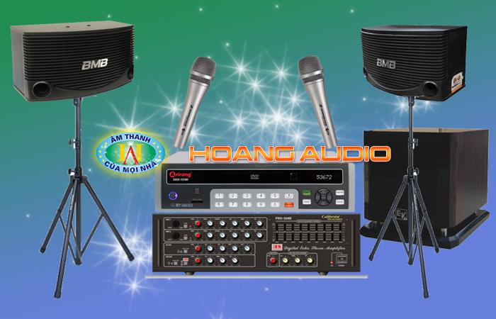Bộ Dàn Karaoke số 3 cho gia đình loa BMB 455E