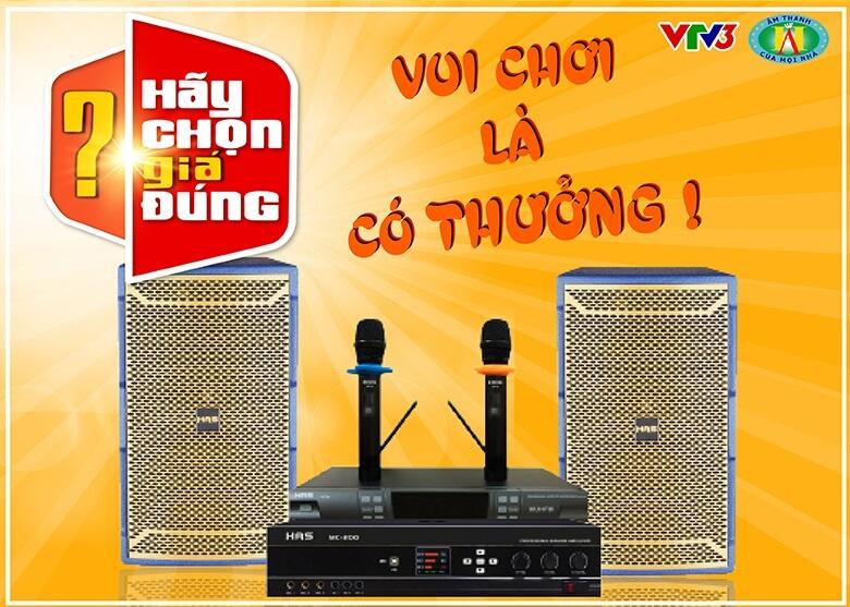 Post image for Bộ dàn karaoke trong gameshow Hãy chọn giá đúng